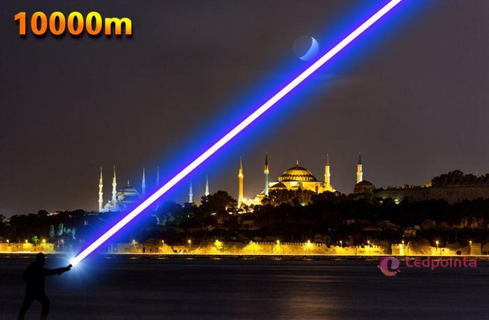 野外超遠距離照射レーザーポインター1600mw