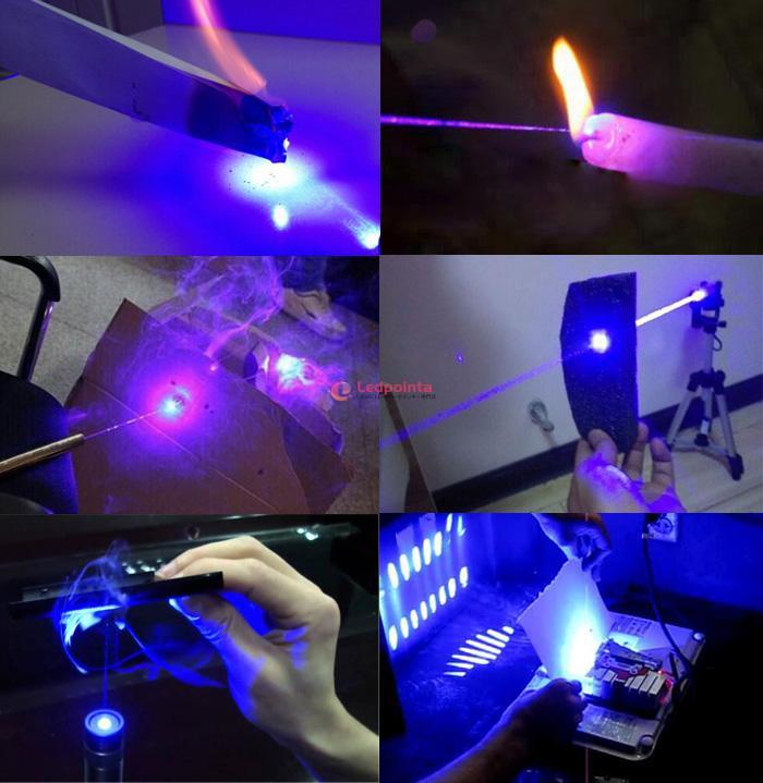 レーザーポインター 強力 着火