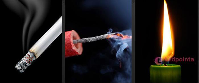 紙に火をつけるレーザーポインター