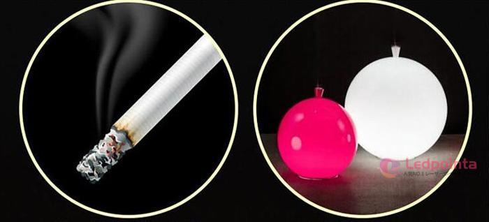 レーザーポインター軽気球爆破