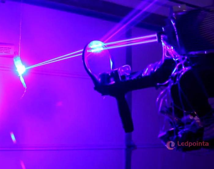 世界最強レーザーポインター実験について