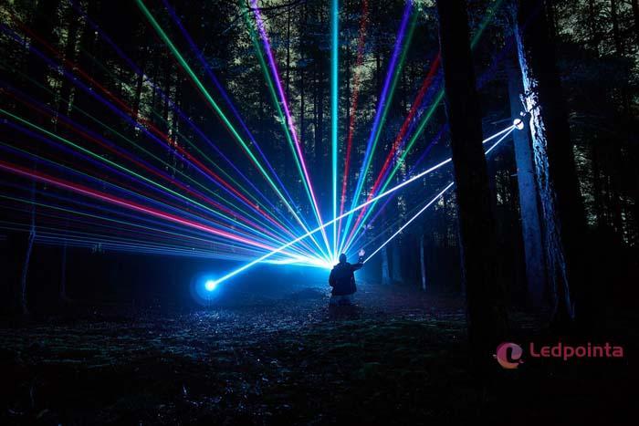 世界最強 グリーン50000mwレーザーポインター照射距離