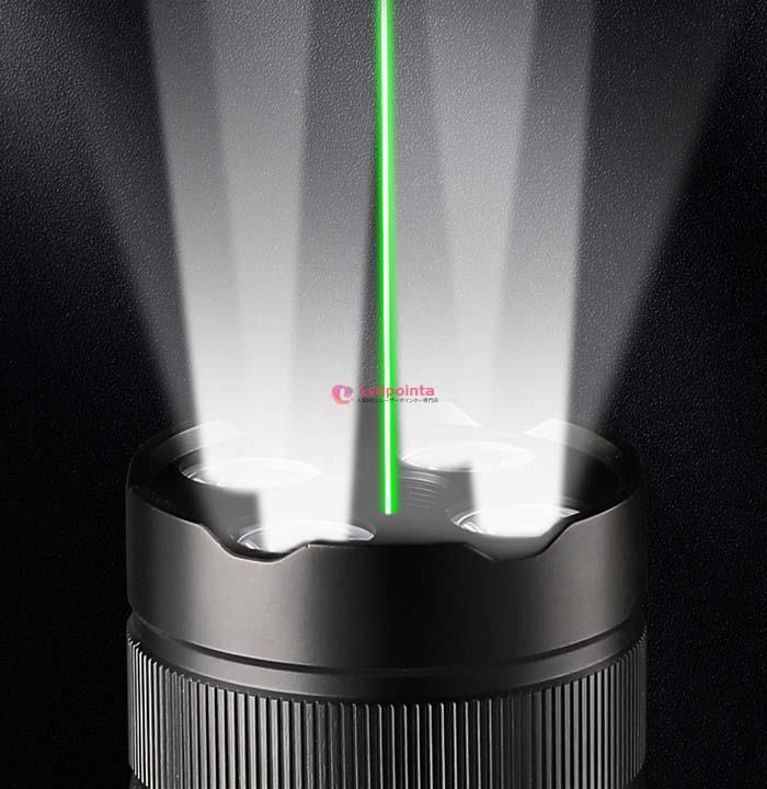 200mw 532nm LEDライト付レーザーポインター