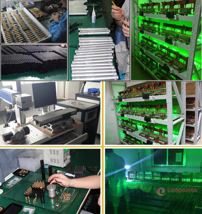 最強レーザーポインター 50000mw 工場写真