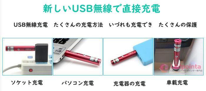 レーザーポインターusb充電式