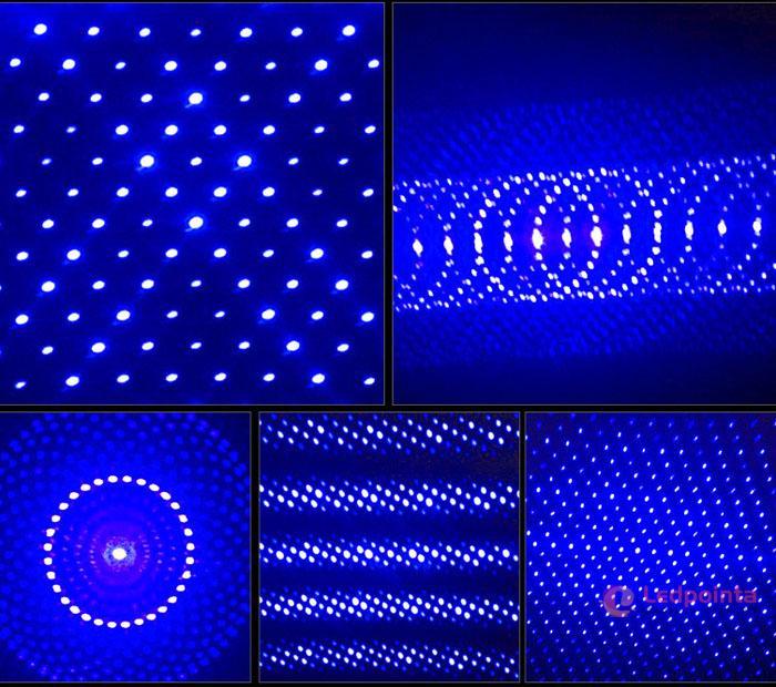 5in1 青紫色レーザーポインター