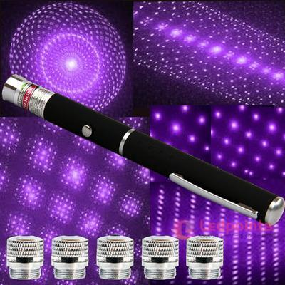 50mw紫5in1満天星レーザーポインター