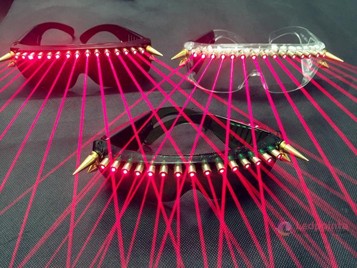 赤色レーザー+LED発光眼鏡