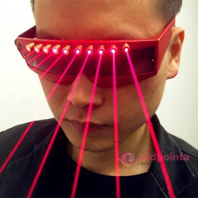 赤い縁レーザーメガネ 赤いレーザー 眼鏡